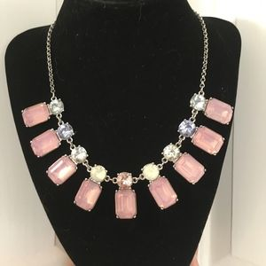 Gorgeous Pink and Silver Necklace NWT!
